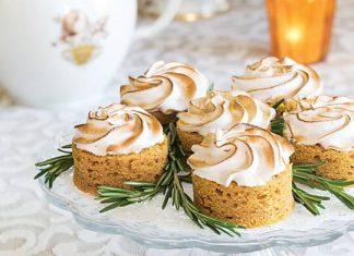 Sweet Potato Cakes with Toasted Meringue