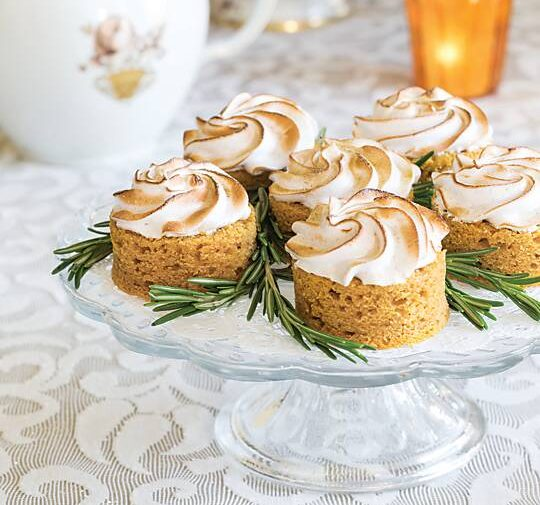 Sweet Potato Cakes with Toasted Meringue