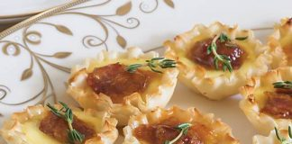 Apricot-Bacon-Brie-Phyllo-Tartlets