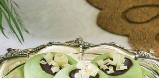 Chocolate Ganache-Filled Mint Thumbprint Cookies