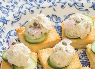 Tuna on Challah Toasts