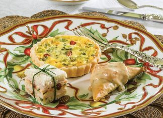 Turkey & Pesto Tea Sandwiches
