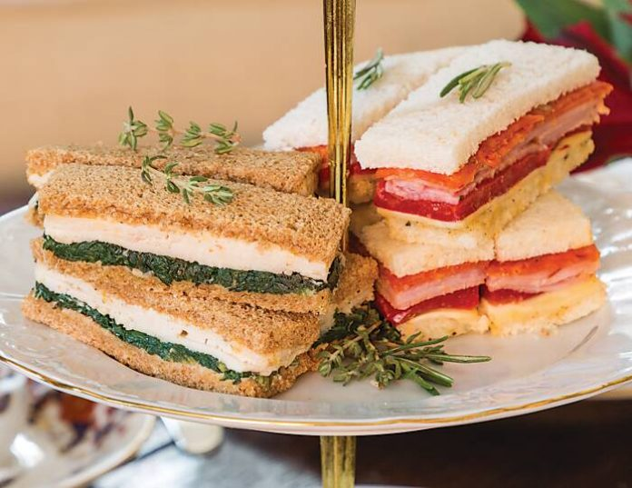Chicken-Spinach Tea Sandwiches