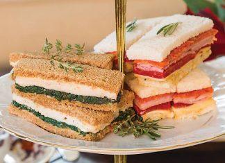 Ham, Pepperoni, and Cheddar Tea Sandwiches