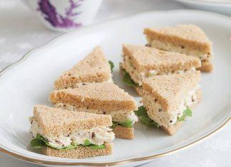 Mustard Chicken Salad Tea Sandwiches