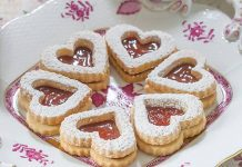 Rose Hip Linzer Cookies