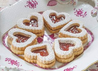 Rose Hip Linzer Cookies