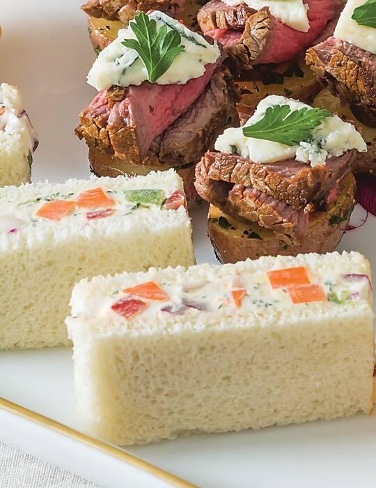 Vegetable-Cream Cheese Tea Sandwiches