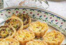 Petites Ham and Cheese Quiches