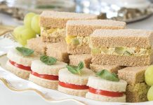 Fruity & Nutty Curried Chicken Salad Tea Sandwiches