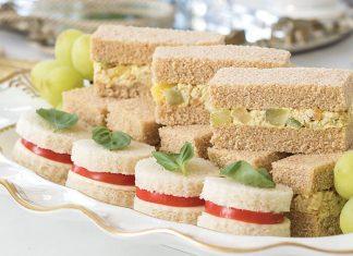 Fruity & Nutty Curried Chicken Salad Tea Sandwiches