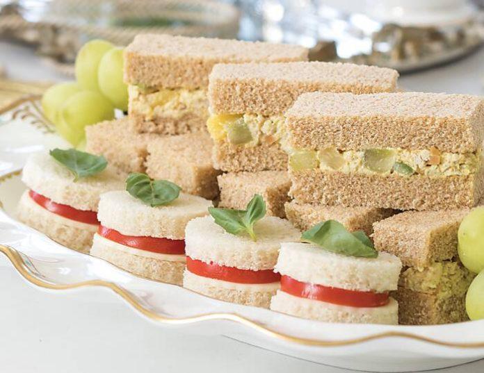 Caprese Tea Sandwiches