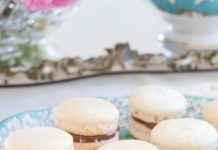 Chocolate-Filled Salted Caramel French Macarons