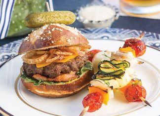 Mini Cheeseburgers with Fried Shallots