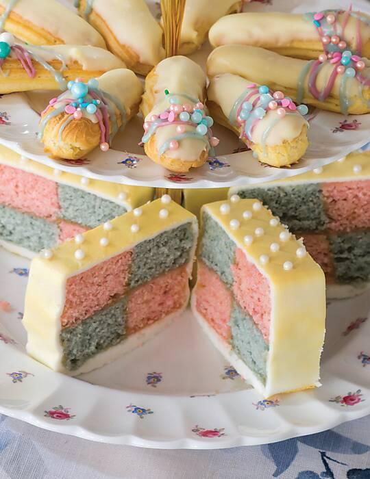 Blue & Pink Battenburg Cake