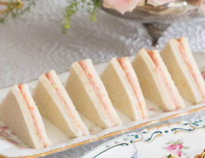 Chutney Ham Salad Tea Sandwiches