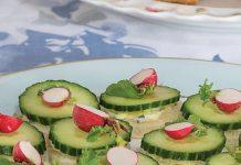 Cucumber Canapés with Lemon-Basil Butter