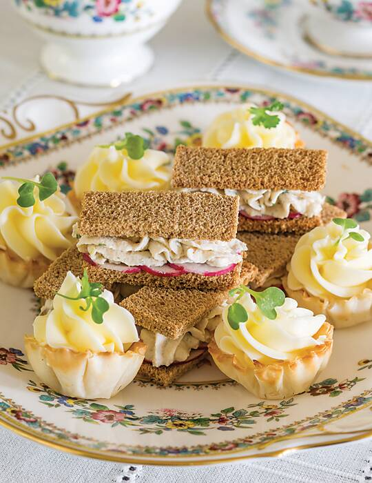 Trout Mousse and Radish Sandwiches
