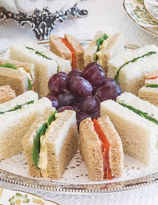 Cucumber & Tarragon Tea Sandwiches