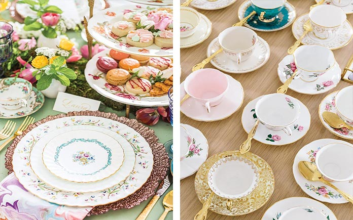 Rentable China for Afternoon Tea and More