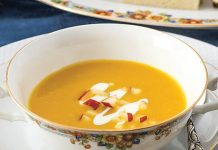 Curried Butternut Squash & Apple Soup