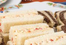 Smoky Pimiento Cheese Tea Sandwiches
