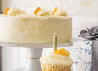 Orange Cake with Orange Buttercream Frosting