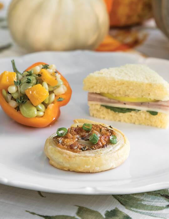Lima Bean & Pumpkin Succotash Baby Bells.