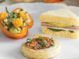 Barbecued Chicken, Mushroom & Cheddar Pastries