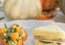 Golden Apple & Pork Tea Sandwiches